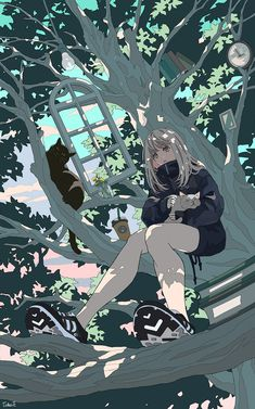 Anime Backgrounds Wallpapers, Anime Scenery Wallpaper, Cute Anime Wallpaper, Animes Wallpapers, Cute Wallpapers, Kawaii Art, Kawaii Anime Girl, Anime Art Girl, Kawaii Drawings
