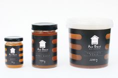 Packaging design for 'Aus Baus' honey by Gabija Platukyte
