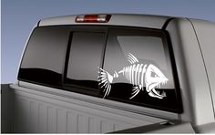 Bone Fish Decal Sticker Skeleton Fish Fishing Skull Fish Racing Boat | eBay