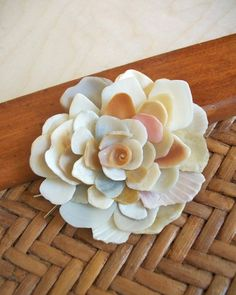 Shell Hair Accessory Sea Shell Flower Barrette Free by tropEEcal, $45.99