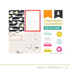 Thsi #printable available at #digitalshop #studiocalico  I always get digital files at the shop-easy to print out and cut by hand or even better, I should try using print&cut function at cameo :) Printshop Printable at @Studio_Calico