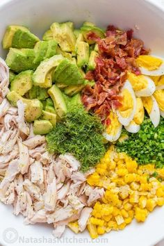 This Avocado Chicken Salad recipe is a keeper! Easy, excellent chicken salad wit… This Avocado Chicken Salad recipe is a keeper! Easy, excellent chicken salad with lemon dressing, plenty of avocado, irresistible bites of. Salad Recipes Video, Diet Recipes, Cooking Recipes, Egg Recipes, Recipes Dinner, Cooking Games, Recipes With Corn, Cooking Tips, Soup Recipes