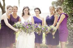 Purple maids. Various designers.