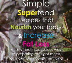 Superfood recipes ebook cover