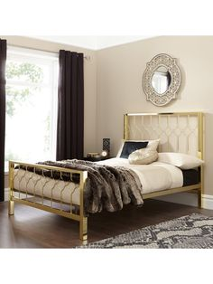 Shop Very for women's, men's and kids fashion plus furniture, homewares and electricals. Home Bedroom, Diy Bedroom Decor, Home Decor, Steel Bed Design, Metal Beds, Luxurious Bedrooms, Living Room Inspiration, Bed Frame, Yurts