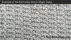 Example of the Portcullis Stitch. (Right Side)
