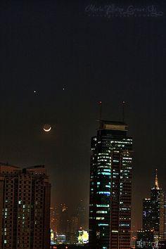 Jupiter, Venus and the Moon (Explored#1)