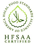 Halal Food Standards Alliance of America. HFSAA. Official logo for halal certification in USA. http://halaladvocates.org/hfsaa/about-hfsaa/