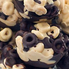 Chunky Chocolate Cheerios: Kids will love you and mothers will hate you. Make it and find out why.  Hmmmm...