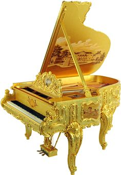 22 K Golden Piano custom made also pure gold available for purchase, price from…