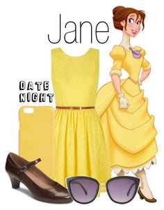 A fashion look from February 2017 featuring yellow wrap dress, brown mary jane pumps and iphone cover case. Browse and shop related looks. Jane Porter, Disney Outfits, Disneybound, Yellow Dress, Pumps Heels, Fashion Looks, Disney Princess, Tarzan, How To Wear