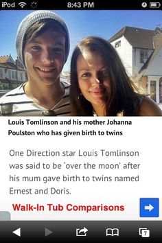 Louis Tomlinson and his mother