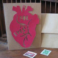 cut heart card \\