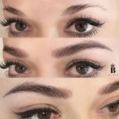 Hair Stroke Eyebrows, Mircoblading Eyebrows, Eyeliner, Beauty Skin, Beauty Makeup, Hair Beauty, Permanent Makeup, Eyebrow Makeup, Eye Make Up