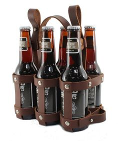 Our new Leather Six Pack Caddy. Made in Milwaukee! http://www.fyxation.com/collections/leather-goods/products/leather-six-pack-caddy