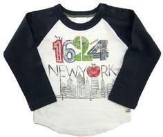 Bit'z Kids - Boy's Raglan New York Long Sleeve Tee - Off White on shopstyle.com