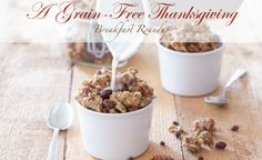 A roundup of Grain-Free Thanksgiving Breakfast/Brunch Recipes