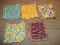 Washcloths I made recently