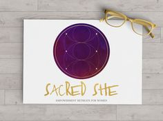 This logo design is powerfully rich with its deep purple watercolor foundation, featuring sacred geometry in gold foil. This logo is sure to capture the attention of your ideal clients. This logo is created with life and business coaches in mind- but will serve greatly in any industry that caters to spiritual or metaphysical practices. My premade logos allow for a lower price point for a beautifully designed representation of your brand identity, with the convenience of having all the…