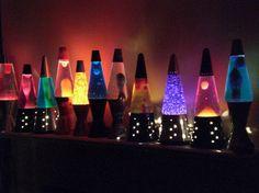 Lava lamps.