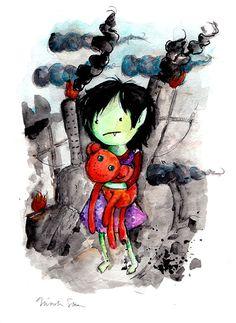 Marceline the Vampire Queen Child, 8.5x11 inch inkjet print / Adventure Time Fan Art