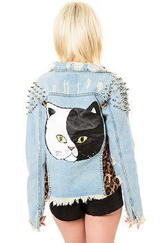 UNIF Denim Cat Jacket