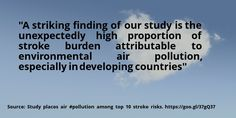 nice #quote Study places air #pollution among top 10 stroke risks