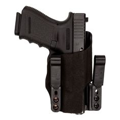INCOG IWB Holster. Glock 26, right hand with half guard. Black fuzz on grey kydex.