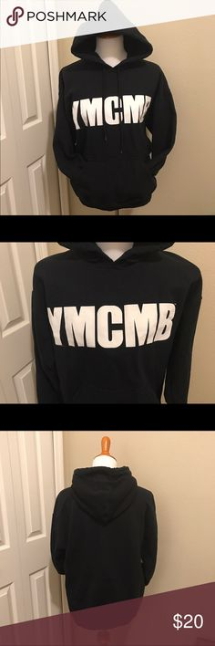 YMCMB men's M black hoodie. Great condition. Previously loved but in great condition. YMCMB (young money cash money billionaire). No cracks in lettering. Light pilling in certain spots which can easily be removed. Pilling is to be expected in used clothing. Offers considered through offer feature. Bundle and save! YMCMB Sweaters