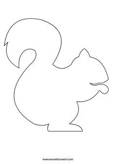 Animal Tote Craft | Squirrel, Template and Animal stencil