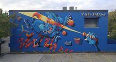 The Yok & Sheryo for the Prohibition Mural Festival in Lexington, Kentucky, USA, 2015