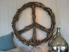 I am an old hippie at heart and love peace signs...this one is made from driftwood