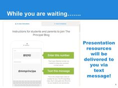 The Principal Blog: Sharing Presentation Resources Through @Remind