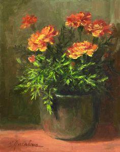 Marigolds Painting  - Marigolds Fine Art Print