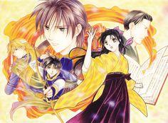 """Art from """"Fushigi Yuugi: Genbu Kaiden"""" series by manga artist Yuu Watase."""