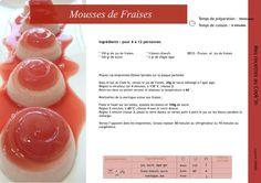Mousses de fraises