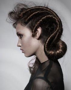 Master Hairstylist of the Year winner: Anna Pacitto: Salon Pure; Cool Braid Hairstyles, Creative Hairstyles, Up Hairstyles, Pinterest Hairstyles, Pelo Editorial, Beauty Editorial, Editorial Fashion, Avant Garde Hair, Extreme Hair