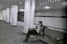 """The Passenger"" - Iggy at Kleistpark, his and Bowie's local U-Bahn station (photo by Esther Friedmann)"