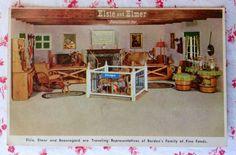 Vintage UNUSED Borden Co. Advertising Postcard Elsie, Elmer, and Beauregard, Too