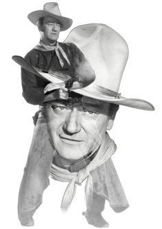 Nostalgic Art - The Duke John Wayne Fine Art Prints, Framed Prints, Canvas Prints, Nostalgic Art, John Wayne, Hollywood Stars, Unique Art, Fine Art America, Original Artwork