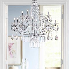 Brighten your home with this traditional chandelier. Full of elegance, this twelve-light lighting fixture looks great over dining tables for added class and illumination.