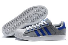 75d5a5e7db4 Buy Hard Wearing Best Brand Jersey Neutral Gray Royal Blue Adidas Superstar  II Womens Special Offers TopDeals from Reliable Hard Wearing Best Brand  Jersey ...