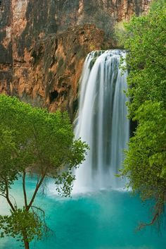 """Havasu Falls, Havasu Canyon, Arizona (AZ), USA - """"We must surround ourselves with the energy that we wish to see in our own lives"""" - Chris Mott - www.mottivation.com"""