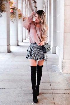 Ideas skirt outfits for teens winter girly Winter Outfits For School, Cute Fall Outfits, Preppy Outfits, Simple Outfits, Skirt Outfits, Classy Outfits, Outfits For Teens, Summer Outfits, Cute Nerd Outfits