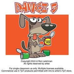 Dogs just wanna have fun and these dawgs are definitely having fun... Dawgz 5 includes 18 unique cartoon images of dogs in a variety of humorous situations that will definitely elicit smiles from your students.