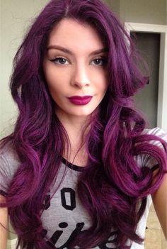 Magenta/Purple hair