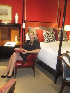 TY ! Dovecote Decor: Alexa Hampton at Hickory Chair High Point Market October 2012 sitting at my Style Spotter Pick