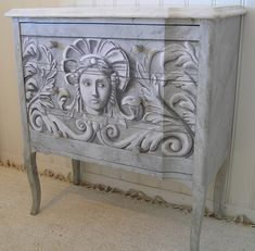 grisaille painted chest