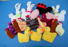 Crochet Easter Egg Cozies  -  Fill plastic eggs with candy & cover with a cute crochet animal cozy!