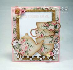 card tea cup cups teapot MFT Tea Party Die-namics MFT Cup of Tea Die-namics #mftstamps